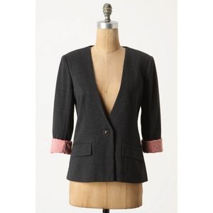 Anthropologie Cartonnier Sans Collar Blazer in dar